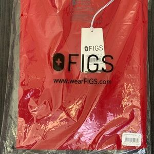 Figs red scrub top
